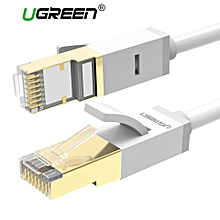 5 Meter Ethernet Cable Cat7 10 Gigabit, RJ45 Network Cable 600Mhz Lan Wire Cord Shielded for Modem, Router, PC, Mac, Laptop, Playstation 4 PS4, PS3, PS2, XBox One XBox One 360 (Grey white) WWD