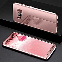 Bakeey Plating 360° Full Body Hard PC Front+Back Cover Case+Soft Screen Protector For Samsung Galaxy S8 Plus Rose Gold