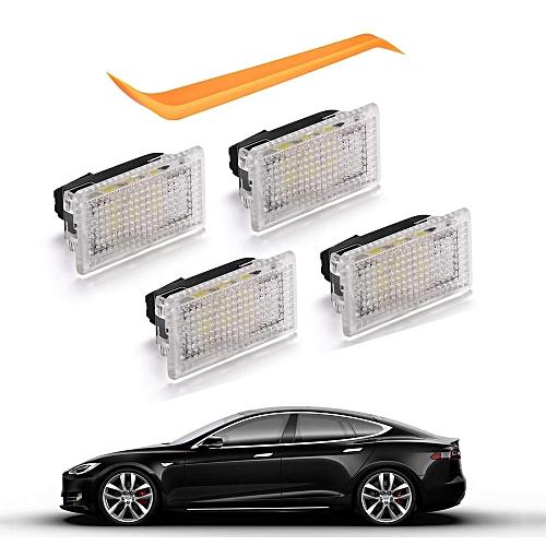4pcs Bright Easy Plug Replacement LED Interior Lighting Upgrade LED Light  Bulbs Kit For Tesla Model 3 Model S Model X