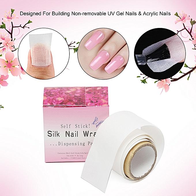 ... Adhesive Silk Nail Wraps Protector Fiberglass Reinforce Nail Tools UV Gel Acrylic Nail Wrap ...