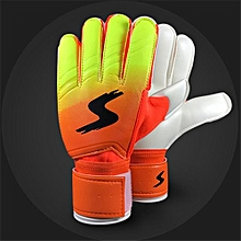 Goalkeeper Goalie Keeper Gloves Roll Finger Soccer Goalie Gloves Football Gift