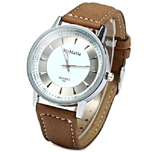 Hot Sale WoMaGe Lovers' Watch  Fashion Casual Wrist Watches Leather Strap Watch Brown