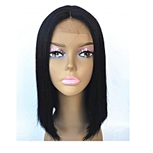 Synthetic Straight Shoulder Length Short Bob Wigs for Woman Middle Part Heat Resistant Wigs Full Wig