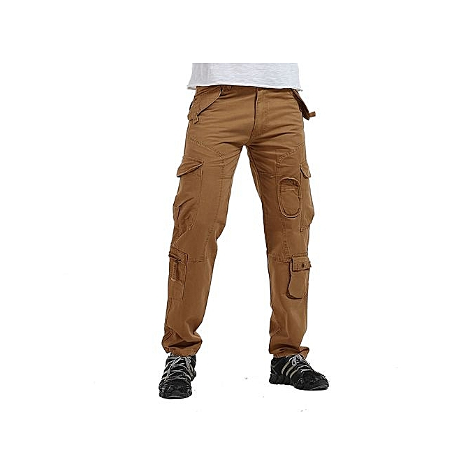 87e8c142f85211 Spring Summer Outdoor Casual Military Cargo Pants Men Loose Fit Tactical  Trousers Cotton Multi Pockets -