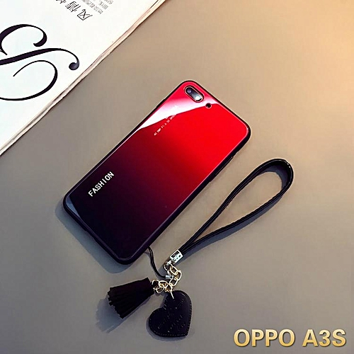 Aurora Glass Case for Oppo A3s Glass Case Full Cover Tempered Glass Back  Cover Casing For OPPO A3s Case Housing