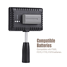 Travor TL-160 Professional Mono-Color Temperature Dimmable LED Video Light Photography Fill Light 8-Level Adjustable Brightness 950 Lumens CRI 85+ with 2 Color Filters for  Nikon Sony DSLR Camera Camcorder