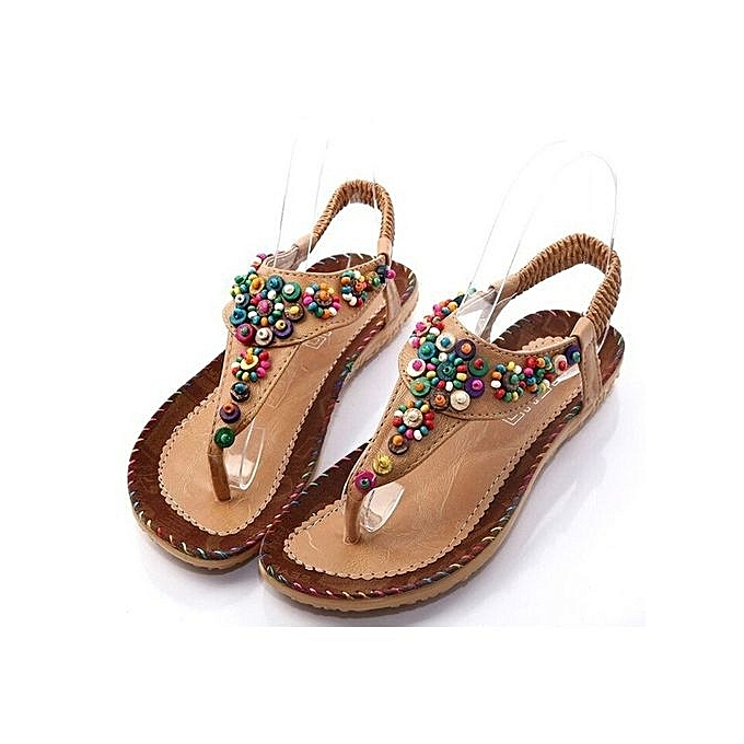 dd79cdefc Colour Brown New 2018 Size 34-43 Women s Fashion Sandals Summer Bohemia  National