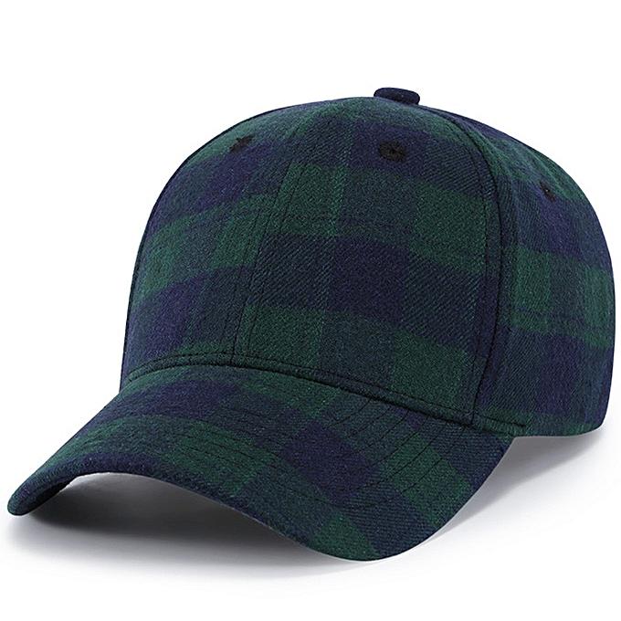 2d5551992c7 Fashion Men Women Baseball Plaid Cap Snapback Hat Hip-Hop Adjustable ...