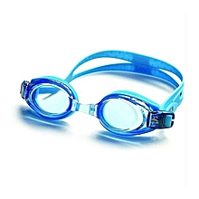 Plating Flat Goggles Large Box Waterproof Anti-fog Swimming Glasses For Men And Women blue