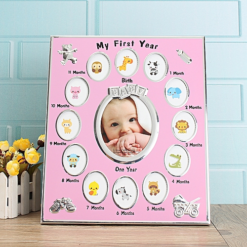 Buy Generic First Year Baby Photo Frame Silver Plated 12 Months