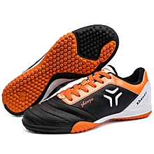 Zhenzu Outdoor Sporting Professional Training PU Football Shoes, EU Size: 31(Black)