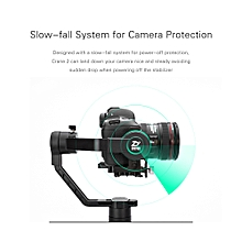 Handheld Gimbal Camera Gyro Stablizer Real Time Follow Focus Tatile Focus Wheel Design Precise Attitude Compensation with Intuitive OLED Display for  EOS Series f