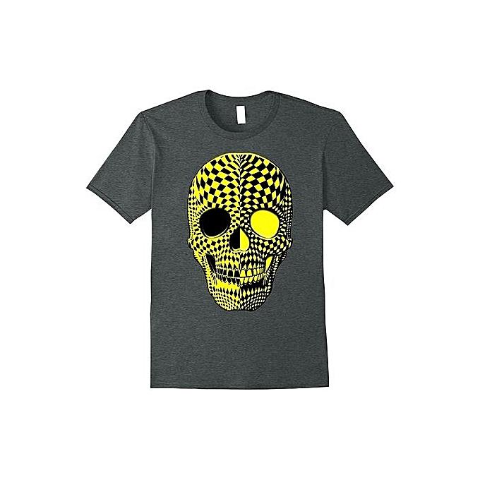 76af7abb58 Black And Yellow Human Haunted Scary Halloween Skull Shirt Fashion Short  Sleeved T-shirts Summer