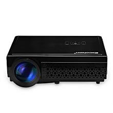 LED 96+ Native 1280*800 support 1080p Led Projector Black UK PLUG - Black White