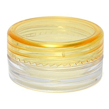 Empty Jar Pot Cosmetic Face Cream Bottle Container Screw Lid Candy Color 3g New Yellow