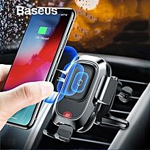 Baseus iPhone XS Max XR X Sam.sung Car Wireless Charger Intelligent Infrared Sensor  Car Phone Holder FCJMALL
