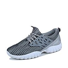 Air Mesh Men Sneakers Anti-Slip Male Sport Running Shoes (Grey)