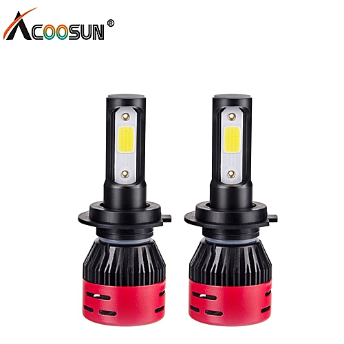 H4 LED H7 H11 H8 LED Car Headlights 9006 HB4 H1 9005 HB3 9012 HIR2 Auto Car  Headlight 72W 8000LM Fog Light Bulb Lamp(6500K White 2Pcs 8000LM)