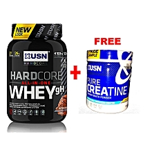 HardCore Whey gH - 908g - Dutch Chocolate with a Free Creatine 150g
