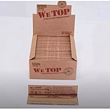 Brown King Size Slim Rolling Paper Full Box Of 50 Packs