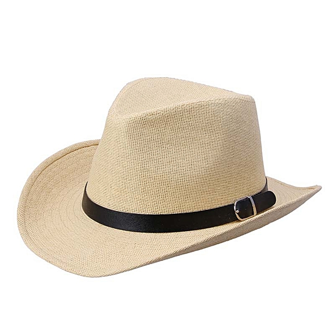 c0751c63c15 Generic Tectores Fashion Trend Summer Men Straw Hat Cowboy Hat LB ...