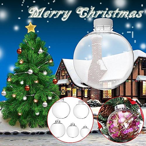 Generic Super Clear Plastic Balls Diy Christmas Tree Hanging Bauble