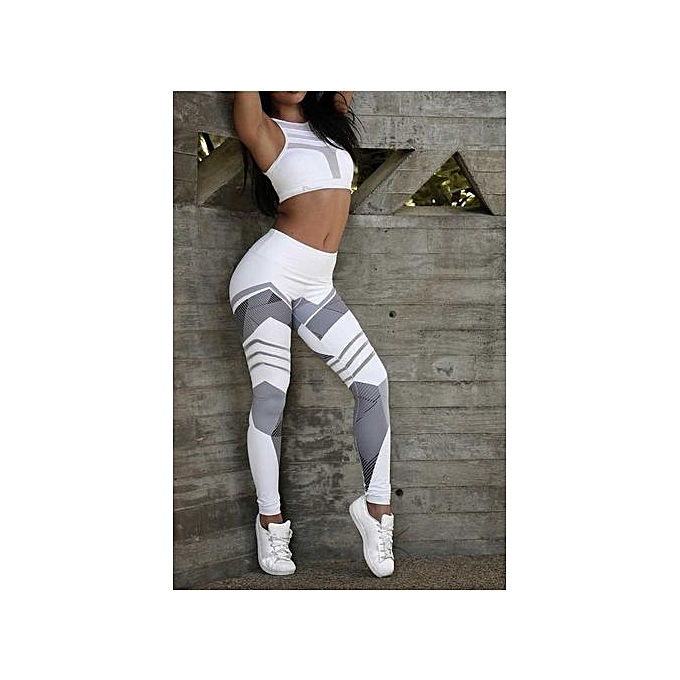 Popular Yoga Pants Fitness Leggings Sports Elastic Breathable Female Tights Running Sexy Slim Crackle Printed KUA