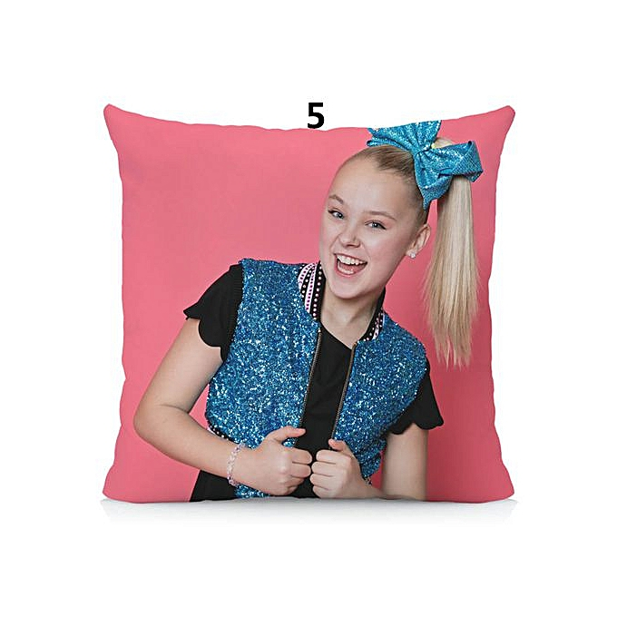 15537773a5 JoJo Siwa Cushion Cover 45x45cm Lovely Girl Pillow Case Polyester  Pillowcase Home Decorative Throw Pillow Cover for Couch