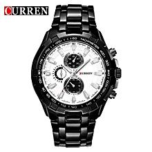 Fashion Brand Man Quartz Full Stainless Steel Watch Casual Military Mens Dress Wristwatch 3Atm Waterproof Gentleman