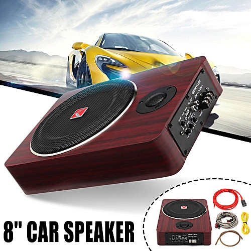 8 Inch 600W Car Subwoofer Speaker Active Under Seat Slim Sub Woofer AMP  Super Bass