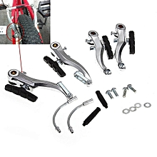 Mountain MTB Bike Bicycle Cycling V-Brake Set Front+Rear Kit Parts Silver-