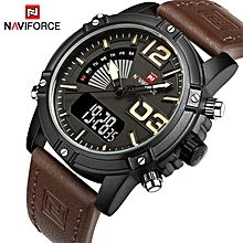 b4debddb7 NAVIFORCE Mens Watches Top Brand Luxury Sport Quartz-Watch Leather Strap Clock  Men Waterproof Wristwatch