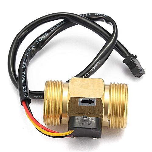 G3/4'' DN20 Copper Hall Effect Liquid Water Flow Sensor Switch Flowmeter  Meter