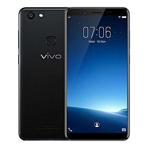 VivoV7 4G Phablet 5.7 inch Android 7.1 Qualcomm Snapdragon 450 Octa Core 1.8GHz 4GB RAM 32GB ROM 24.0MP Selfie Camera 3000mAh Battery Fingerprint Sensor - BLACK