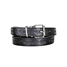 Black Kids Leather Belt