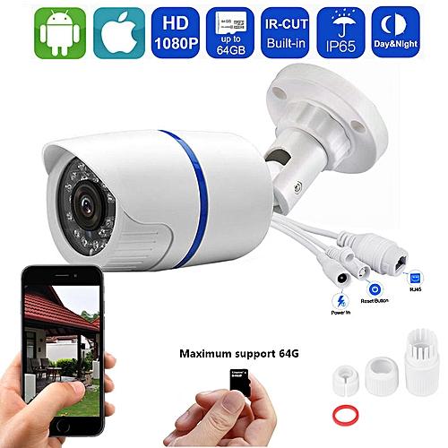 CCTV Camera 1080P IP Camera Waterproof Outdoor Surveillance Camera Built in  SD Card Slot IR Night Vision Camhi APP View(Only 720P)