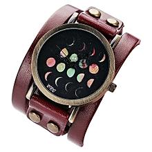 CCQ Moon Eclipse Pattern Leisure  Casual Analog Quartz Bracelet Watch