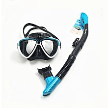 Adult Diving Mask Goggles Snorkeling Breather Pipe Survival Rescue AM206GP+408