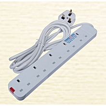 5 Way Extension Cable - White