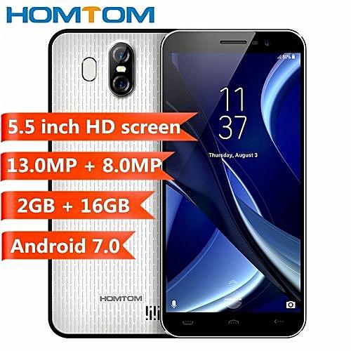 Homtom S16 3G Smartphone 2GB RAM 16GB ROM Android 7.0-White