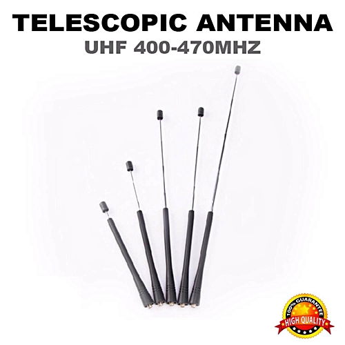 Baofeng Kenwood Walkie Talkie Extend able Telescopic Antenna UHF SMA Female