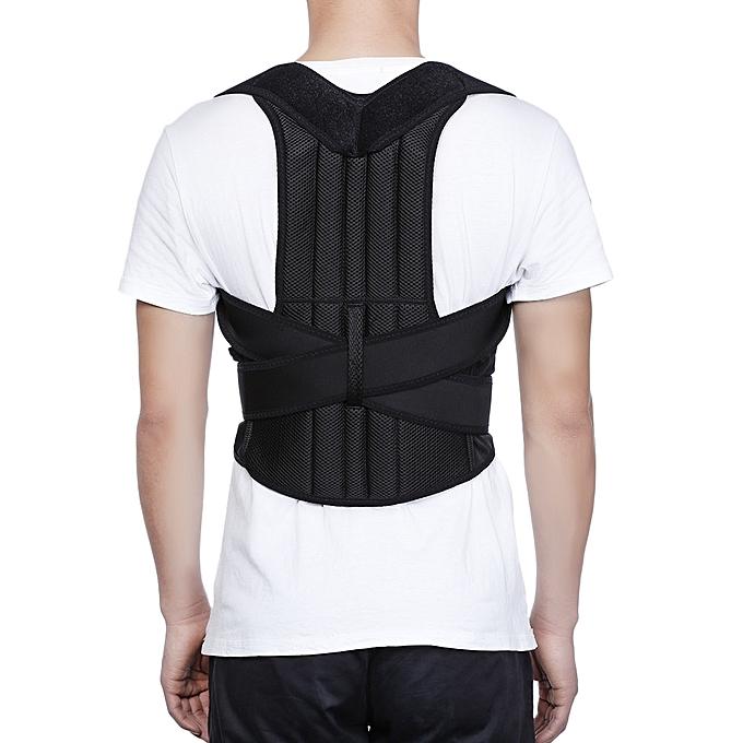 43f33e3d7b3 Adjustable Adult Corset Posture Corrector Back Shoulder Brace Spine Support  Belt - BLACK