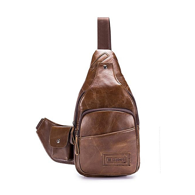 6046124585 Ekphero high-end leather men s bag travel fashion men s chest bag retro  casual Messenger bag