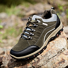 Men's outdoor hiking shoes men's non-slip waterproof sneakers sports shoes men's shoes-Army Green