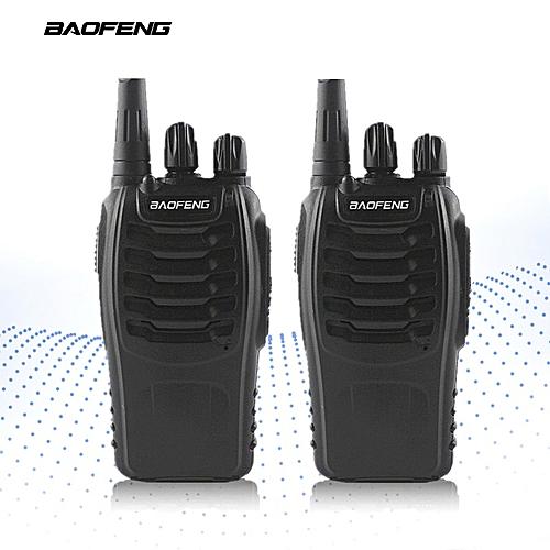 2-PCSBF-888S Walkie Talkie UHF FM Transceiver Handheld Interphone  400-470MHz Two Way Portable CB Radio Long Distance JULIANA