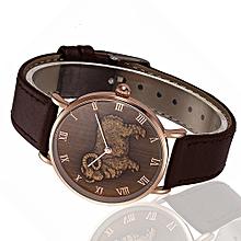 NORTH Africashop Watch  North Fashion Sheep Pattern Men Quartz Wrist Watch Leather Band Watch-As picture