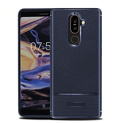 Buy Generic Soft Case For Nokia 7 Plus Luxury Litchi Pattern Soft Silicone Case Cover For Nokia 7 Plus Casing 230729 (Blue) @ Best Price | Jumia Kenya