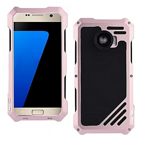 los angeles d3d28 c6ace Dust/Shock/Waterproof Metal Case Cover+Camera Lens For Samsung Galaxy S7  Rose Gold