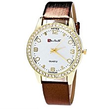 Watch Sugar Candy Color Male And Female Strap Wrist Watch CO-Coffee