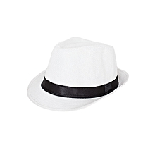White Soft Fedora Panama Unisex Straw Classic Woven Hat